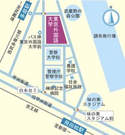 東京外国語大学地図